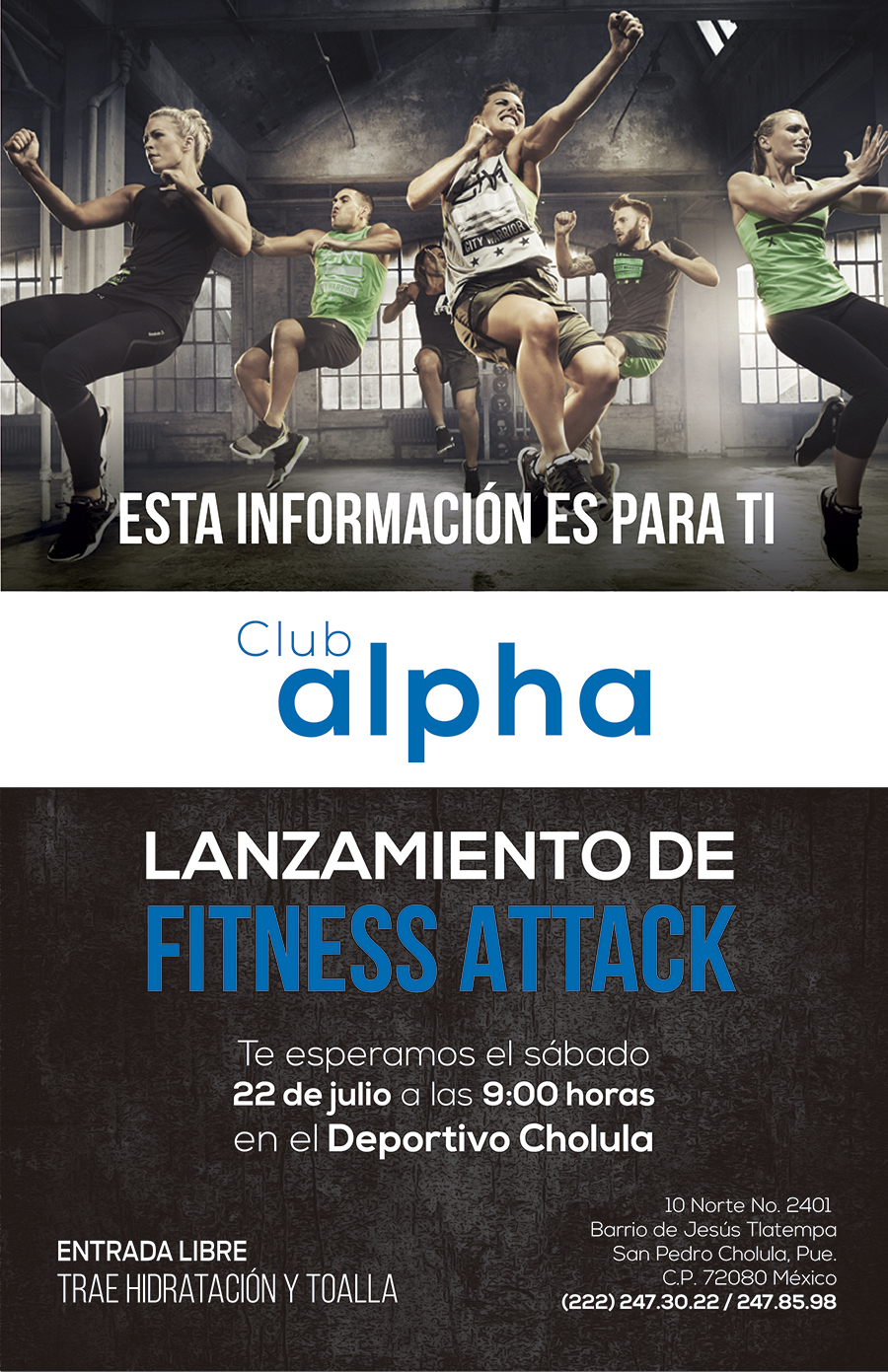 fitness attack cholula