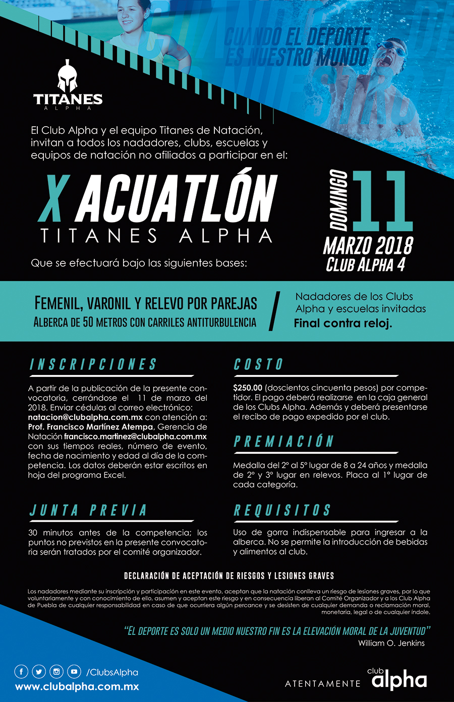 convocatoria acuatlon 2018 final